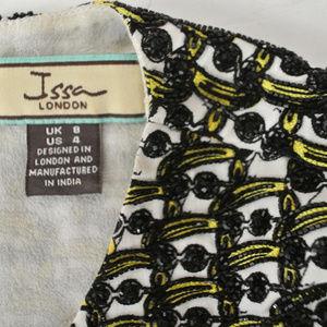 Issa London Dresses - ISSA LONDON beaded sunglass print shift dress